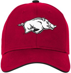 0a7deaa5 NCAA Arkansas Razorbacks Kids & Youth Boys Basic Structured Adjustable Hat,  Victory Red, Kids One Size