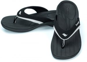 4b03279368e9 Powerstep Women s Fusion Flip-Flop Sandals - Orthotic Sandal with Built-in  Arch Support for Plantar Fasciitis and Flat Feet