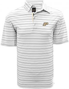 NCAA Purdue Boilermakers Men s Deion Banner Stripe Polo af5864666650