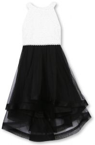 f00eaac5d3 Speechless Girls  7-16 Tween Sparkle Waist Party Dress with Wide Ribbon Hem