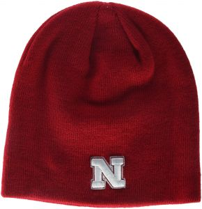 newest 2e422 a9dd0 Zephyr NCAA Nebraska Cornhuskers Adult Men Edge Knit Beanie, Adjustable,  Team Color