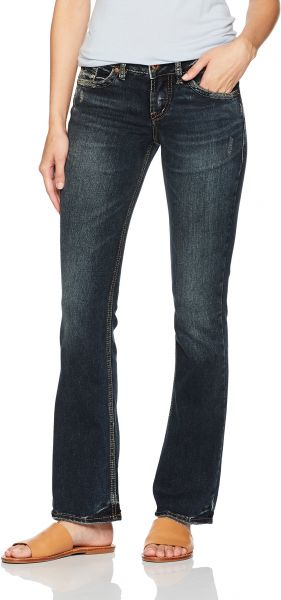 61ab9766 Women's Suki Curvy Fit Mid Rise Slim Bootcut Jeans,Dark Vintage Wash,27X31. by  Silver Jeans Co., Pants - Be the first to rate this product