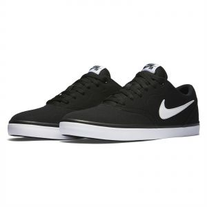 the best attitude afd5c 3b702 Nike SB Check Solar Canvas Sports Sneakers for Men - Black White