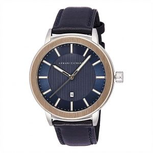 4fa7049ed53 Armani Exchange Men s Blue Dial Leather Band Watch - AX1463