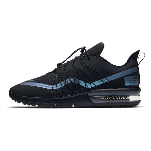 afe6736190aa6 Nike air Max Sequent 4 Utility Running Shoes for Men - Black Racer Blue