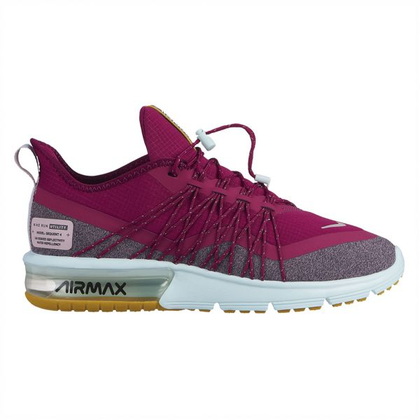 Nike air Max Sequent 4 Utility Running Shoes for Women - Black Reflect  Silver  d788536b7