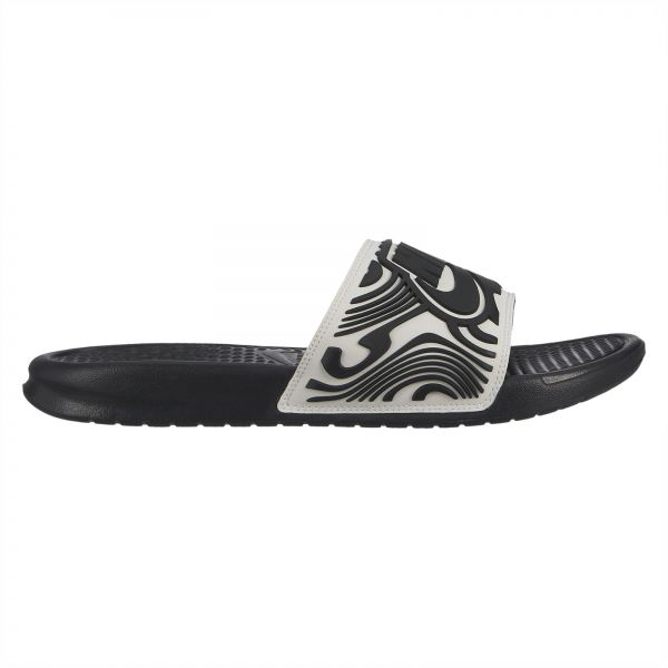 new styles 1ee2e ad656 Nike Benassi JDI SE Slide Sandals for Men - White Black   Souq - UAE