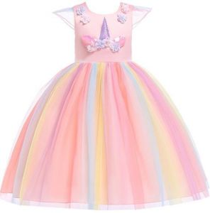 3-12 Y Girls Unicorn Fairy Clothing Kids Unicorn girls Unicorn Pageant Party  Dresses dceacbfd6e1a