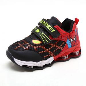 e8a8f259cc02ed Children s athletic shoes and boys  mesh breathable casual spiderman shoes  are non-slip and wear resistant