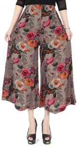 8e0b31eb9 Sweety Nina Indonesian Cotton Boho Straight Trouser Capri National Style  Palazzo Floral Loose Wide Leg Pant Floral Print for Women and Girls -Pink  Size M
