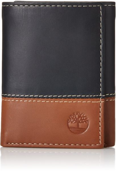 d7f61d52ac759 Timberland Mens Leather Trifold Wallet With ID Window