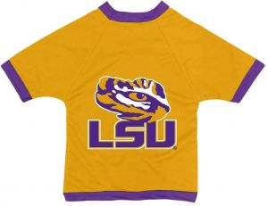 e502f8b01 All Star Dogs NCAA Louisiana State Fightin Tigers Athletic Mesh Dog Jersey  (Team Color