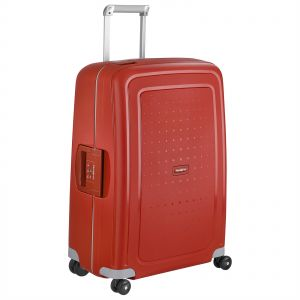 fcd69b2ea2254 Samsonite 55 cm S Cure Hardside Carry On Luggage with Spinner Wheels -  Crimson Red