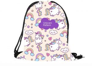 73ae73902f Unicorn Drawstring Backpack Bulk String Bags Drawstring Sports Bag Durable  Multicolor Drawstring Bags for Kids Adults