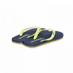 f37404c45 SOLETHREADS NAVY LIME ST BASIC FLIP FLOPS - 7 UK SIZE