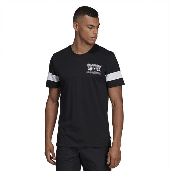 fa2097e59 Adidas Weft knitted Juventus Street Graphic T-shirt for Men - Black ...