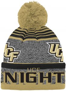 best website f3ff5 3d25e NCAA Central Florida Golden Knights Youth Boys Jacquard Cuff Pom Hat, Black,  Youth One Size