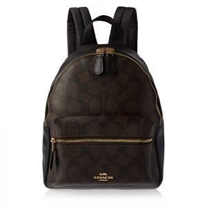 c6a9b6b5be8 Coach F58315 Mini Charlie Signature Backpack for Women - Leather, Brown