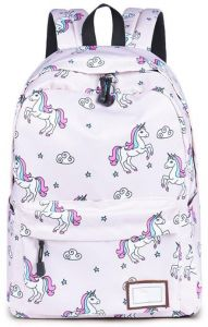 fcc1a56a70ae Women Backpack Fashion Cute Unicorn Printing Water Resistant Laptop ...