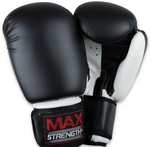 b4e71912f40 Boxing Gloves Kick Punch Bag Muay Thai UFC Fight Training Mitts 16 oz-Max  Strength