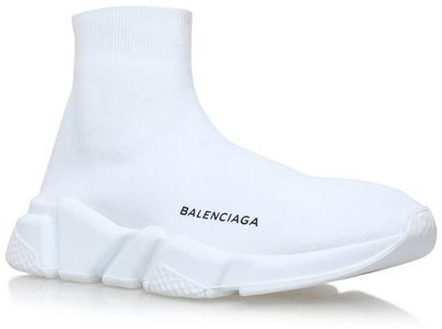 5ad66cb9df73 Balenciaga Speed Trainer Sock sneakers shoes white For Unisex