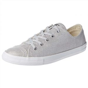 Converse Chuck Taylor All Star Dainty Fashion Sneakers for Women - Silver ba891ffe1