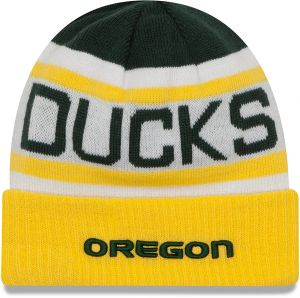 42ccd18b897 New Era NCAA Oregon Ducks Biggest Fan 2.0 Cuff Knit Beanie
