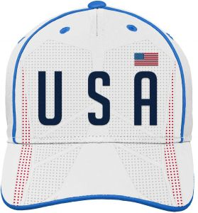 a457d7ef Outerstuff World Cup Soccer United States Mens -Printed Structured  Adjustable Hat, White, One Size