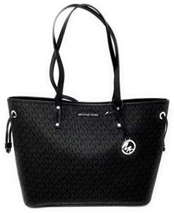 545fb4d4a52d Michael Kors WoMen s Jet set Travel Tote Bag with MK Logo Print