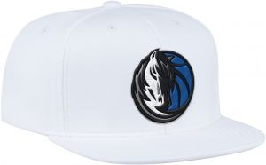 new product 3b1dd 60f10 NBA Dallas Mavericks Men s ZNE Flat Brim Snapback Cap, One Size, White