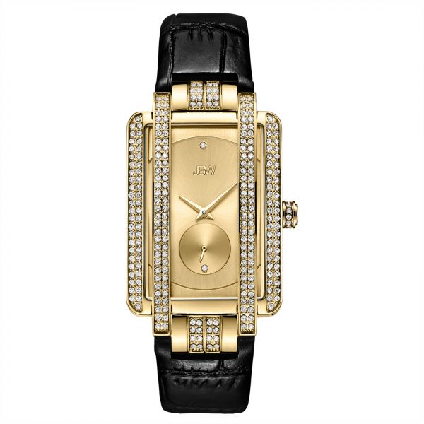 JBW Mink Gold Dial Leather Band Watch - J6358L-D