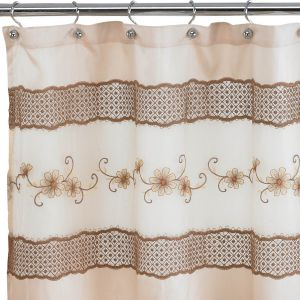 Popular Home The Veronica Collection Shower Curtain 70 By 72 Beige