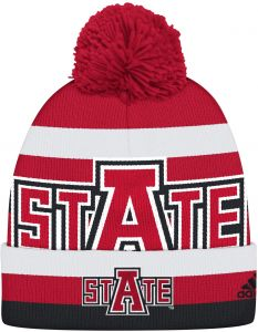 the latest 827f8 6bab6 NCAA Arkansas State Indians Men s Oversized Logo Cuffed Knit, Red, One Size
