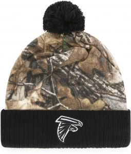 88ce3298 NFL Atlanta Falcons Adult NFL Greyson Ots Cuff Knit Cap with Pom, One Size,  Realtree