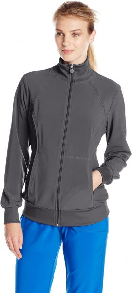 910d1a975d0 Cherokee Women's Infinity Zip Front Warm-up Jacket, Pewter, Medium. by  Cherokee, Uniform - Be the first to rate this product