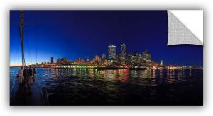 24 in W x 23 in H Wallmonkeys Singapore Skyline Wall Decal Peel and Stick Graphic WM360585