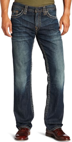 32380789 Silver Jeans Men's Nash Heritage Slim Fit Jean, Dark Blue, 33x32 ...