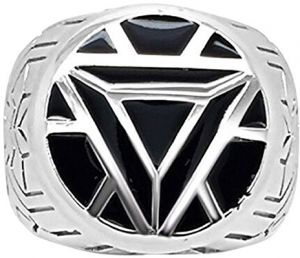 Marvels Iron Man ArmorWomens Ring in Sterling Silver - 5 Black