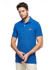77588655a Superdry Classic Pique Polo for Men - Blue