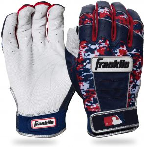 1aa84c82934a Franklin Sports CFX Pro Digi Series Batting Gloves Pearl Navy Red Camo  Adult Large