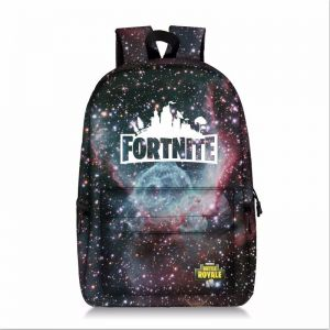 e8e52f4814f0 Fortress night sky backpack large capacity schoolgirl bag all printed star  gray outdoor backpack