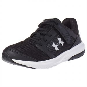 best loved 53f36 a9e10 Under Armour Running Shoes for Kids - Black White