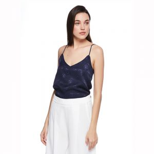 b6dab8a141 Mango Cami Top for Women -Navy