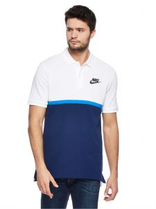 ebb652182 Nike Nsw Matchup Pique Sports Polo for Men - White Blue Void Signal Blue