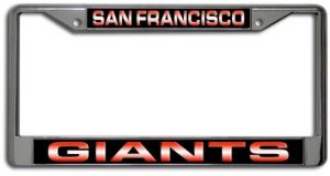 FC5601 Los Angeles Dodgers Chrome License Plate Frame Rico Industries Inc