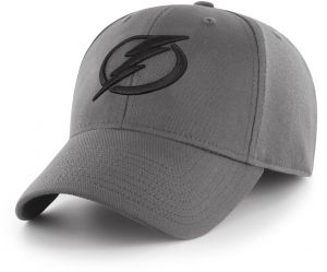 b5a40056032a42 OTS NHL Tampa Bay Lightning Comer Center Stretch Fit Hat, Charcoal,  Large/X-Large