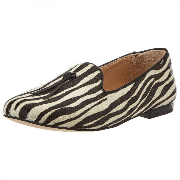 5ad11016845 Erasmo Pagano Loafers for Women - Zebra Print