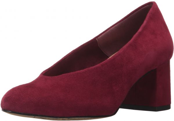 e462c8e5eea3a Bella Vita Women's Jensen Dress Pump, Burgundy Suede, 7 M US