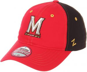 save off f1bad b6e7f Zephyr NCAA Maryland Terrapins Women s Feisty Performance Hat, Adjustable,  Red