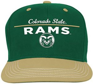 39b17f28d8d2a9 NCAA Colorado State Rams Youth Boys Retro Bar Script Flatbrim Snapback Hat,  Dark Green, Youth One Size